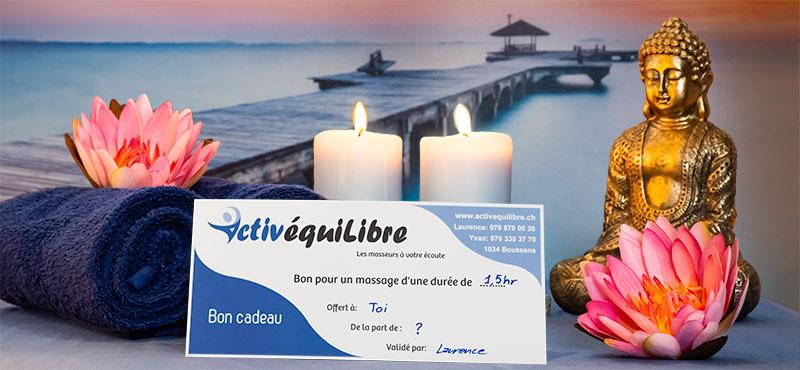Offrez-vous ou offrez à vos proches le cadeau idéal, un bon cadeau pour des séances de massage ou thérapie